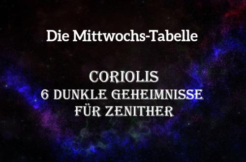 In dieser Tabelle findet ihr Geheimnisse für zenithische Charaktere in Coriolis