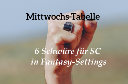 In dieser Tabelle findet ihr Schwüre für SC in Fantasy-Settings