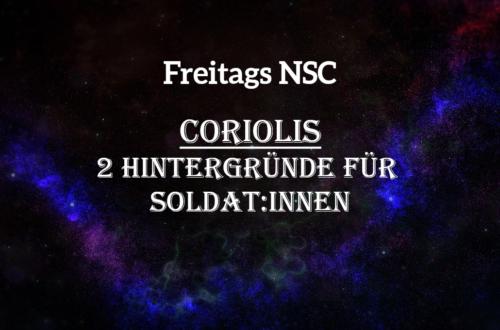 Zwei Hintergründe für Soldat:innen als NSC in Coriolis