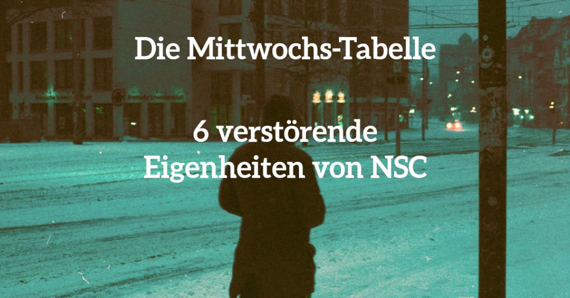 Eine Tabelle mit sechs verstörenden Eigentheiten für eure NSC