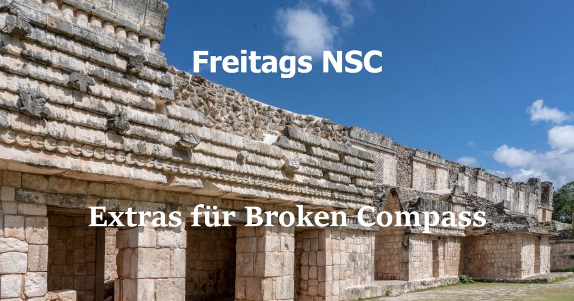Drei Extras (oder NSC) für das Spiel Broken Compass